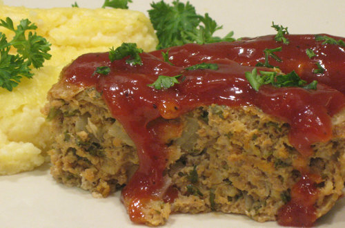Meatloaf with Tomato Gravy